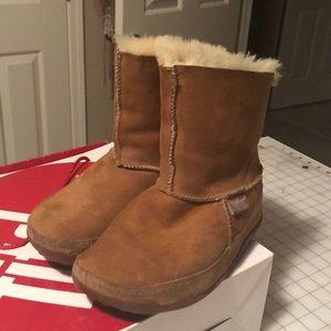 Fitflop mukluk chestnut boots